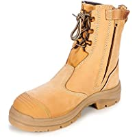 Oliver Work Boots 55385, Steel Toe Safety High Leg, Zip Side.