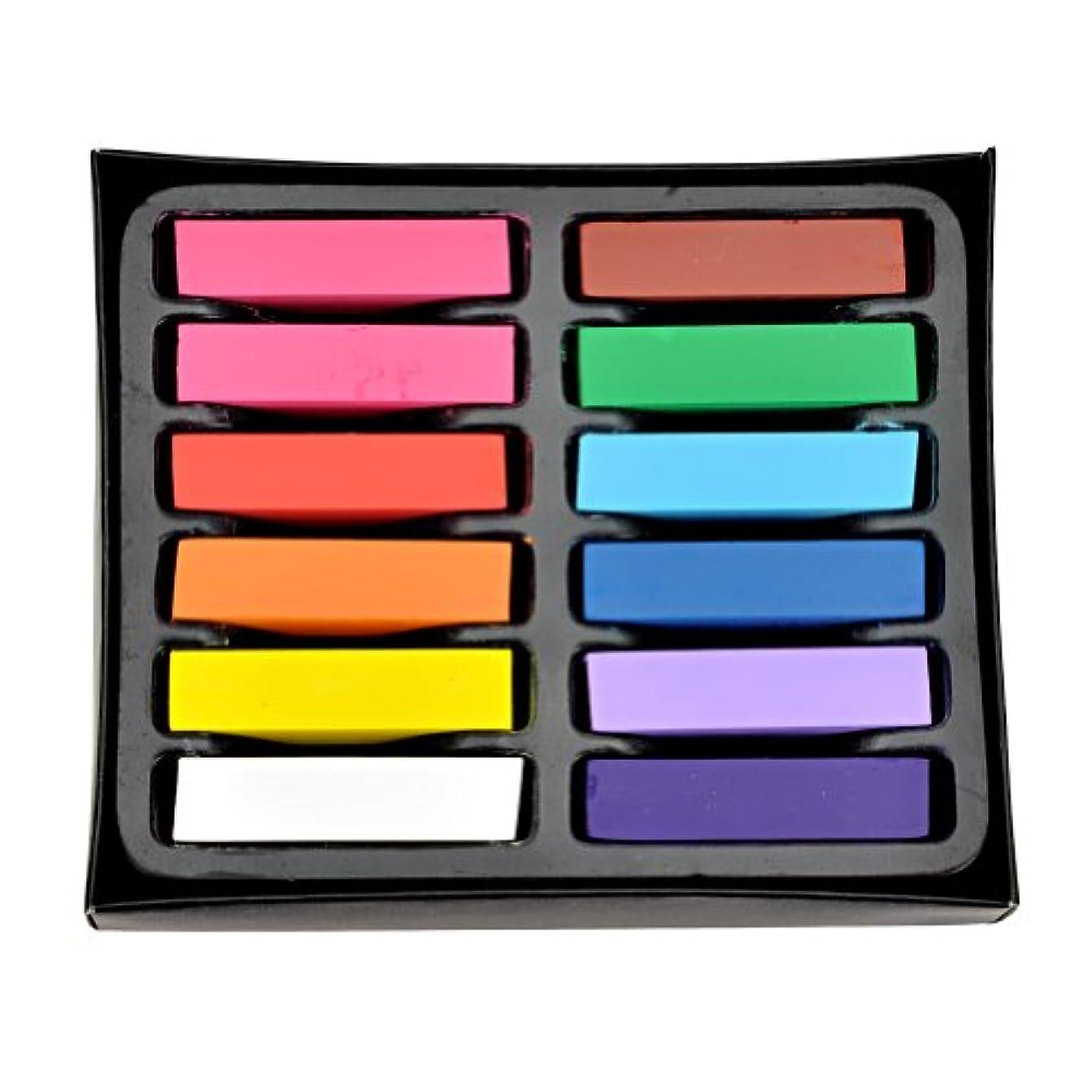 実験室ペストリーコーヒーsell more 【全12色】ヘアチョーク ヘアカラーチョーク Hair color chalk お湯で落ちる簡易髪染 一日だけの髪染め