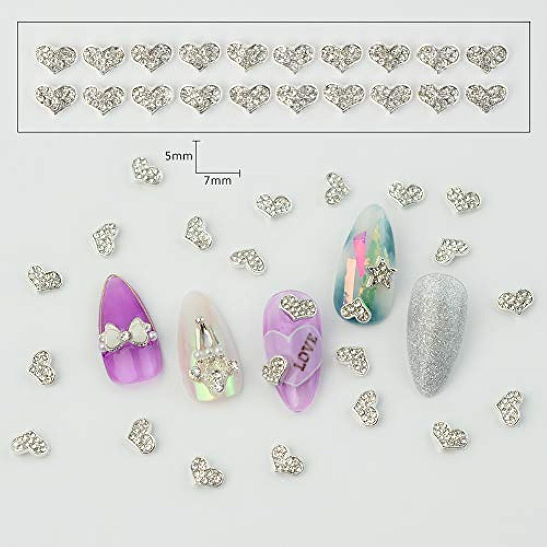 ペルソナボーダー精神医学メーリンドス 3Dネイルアートデコレーション合金スタッズ スタッズとラインストーン合わせて ファッショングリッタージュエリーパーツ ハート/星/リボン/雪 4種選択可能 20個入る (01)