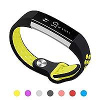 Kutop Fitbit alta バンド, 柔らかいシリコン調整可能バンドの取替可能Fitbit Alta HRに適用するスマート時計心拍フィットネス腕時計