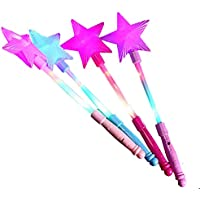 gofypel Light Up Princess Star Wands Fairy Flashing Wand LEDスティック( 1パック)