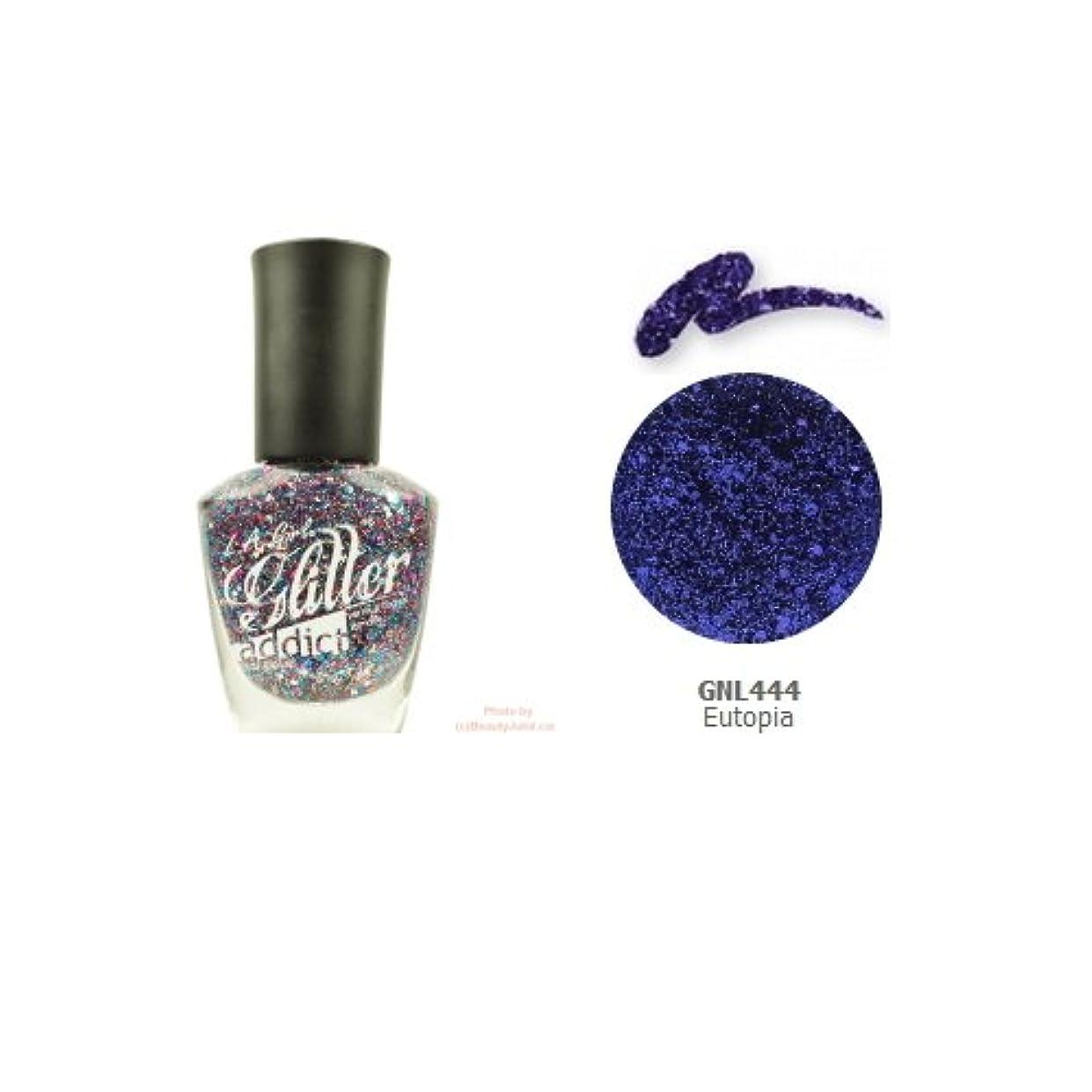 目的天国ドラフト(3 Pack) LA GIRL Glitter Addict Polish - Eutopia (並行輸入品)