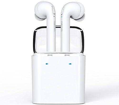 OKCSC GF7 Bluetoothイヤホン ワイヤレス ブルートゥース カナル型 ミニ スポーツ ヘッドセット ヘッドフォン Hifi 高音質 両耳 iPhone7に対応 ノイズキャンセル対応 マイク付き V4.2 ホワイト