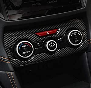 【LEOMA】SUBARU スバル インプレッサ XV G4 GT GK スポーツ カーボン エアコン コントローラー スイッチ パネル カバー 内装 アクセサリー カスタム パーツ(365日保証) (カーボン調)