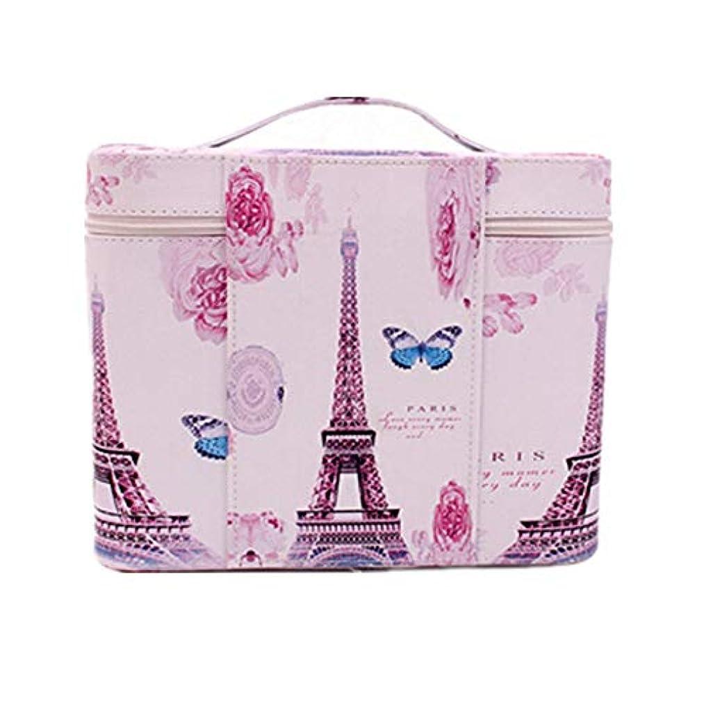 違う最初は構造化粧オーガナイザーバッグ ジッパーと化粧鏡で小さなものの種類の旅行のための美容メイクアップのためのポータブル化粧品バッグ 化粧品ケース