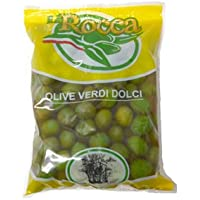 グリーン オリーブ 小粒 500g ラ・ロッカ Olive verde dolci La Rocca