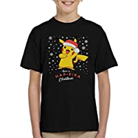 Cloud City 7 Pikachu Have a Happika Christmas Pokemon Kid's T-Shirt