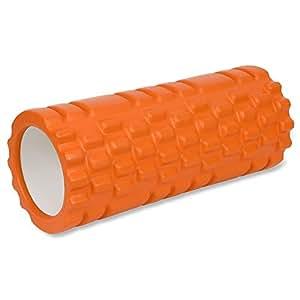 Qimh フォームローラー ストレッチ トリガーポイント 筋膜リリース 背中・腰・ふくらはぎ マッサージ コロコロ 猫背改善 オレンジ