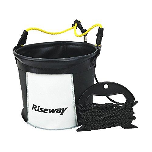 RISEWAY(ライズウェイ) EVA反転水汲みバケツ 丸型 18cm ブラック ロープ・ホルダー付 ブラック UEV-016
