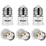 DiCUNO E27 to B22 Adaptor Light Socket, E27/E26 to B22 Converter Bulb Base, Max Wattage 200W, 165 Degree Heat Resistant (6-Pack)