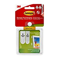 Command Picture Hanging Strips Variety Value Pack, 4-Small and 8-Medium Strips - 3M Command