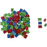 クリエイティブおもちゃマルチカラーピース木製数教育子供用Count数学ツール