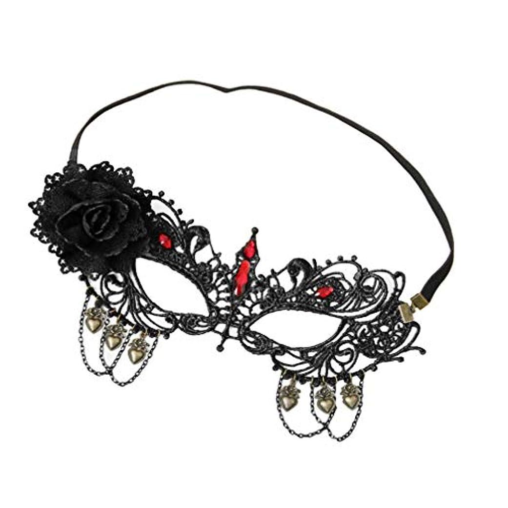 テレビを見るデータベース発掘するSUPVOX ラインストーン付きレースハーフフェイスマスクマスカレードパーティー仮装衣装ハロウィンのための花の調節可能なカットアウト
