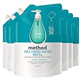 Method Gel Hand Soap Refill, Waterfall, 34 Ounce (Pack 6)
