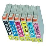 エプソン 【EPSON IC6CL32(用互換インク)】汎用インクカートリッジ 6色セット