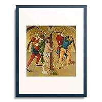 Frueauf the Elder, Rueland,1440/45-1507 「Passion Altar: Christ at the martyrdom column. About 1470/80」 額装アート作品