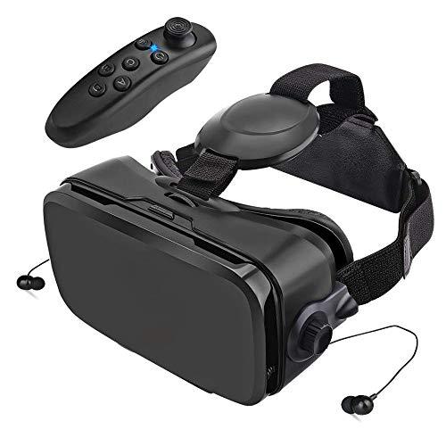【進化版 3D VR ゴーグル】 VRゴーグル 磁気収納式イヤホン Bluetoothコントローラ付き 3Dメガネ 4.0-6.2インチの iphone android Samsungなどの スマホ 対応