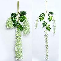 Labos 造花 インテリア 人工バラ シミュレーション造花天井窓装飾偽花結婚式花植物壁装飾花造花つる花 (Color : B)