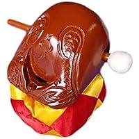 木魚 (もくぎょ) クスノキの木魚 ふとん ・ 籐柄バイ 付き 3点セット クスノキ製(4寸12cm) 仏壇 用の 仏具 楽器 鳴り物 ポクポク (4寸, ナチュラル)