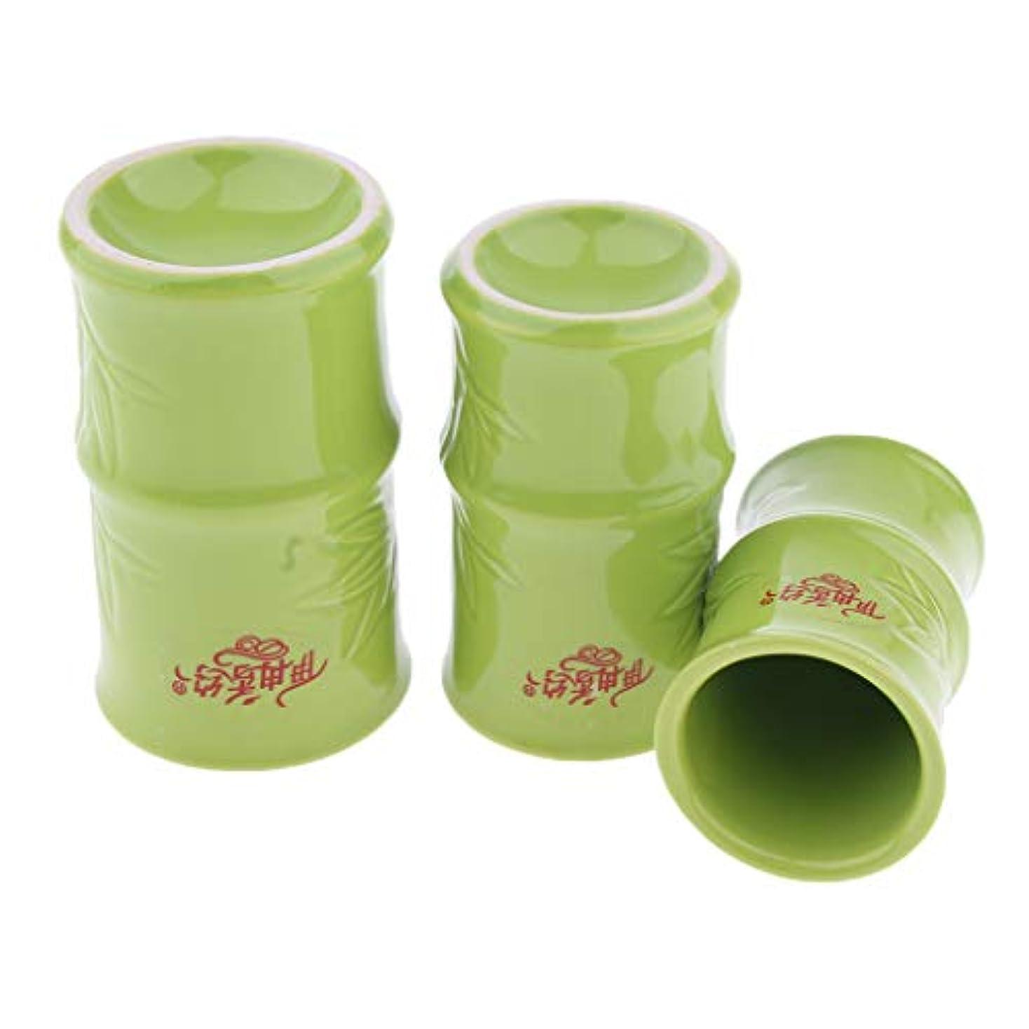 港無礼に無駄Perfeclan 中国 伝統的 健康法 吸玉 手軽 カッピングカップ 3個セット セラミック製 ボディ マッサージ