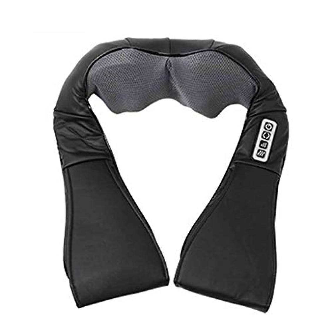 締める十億パラシュート指圧指圧ネック、肩、背中、脚、および足のマッサージ枕、黒