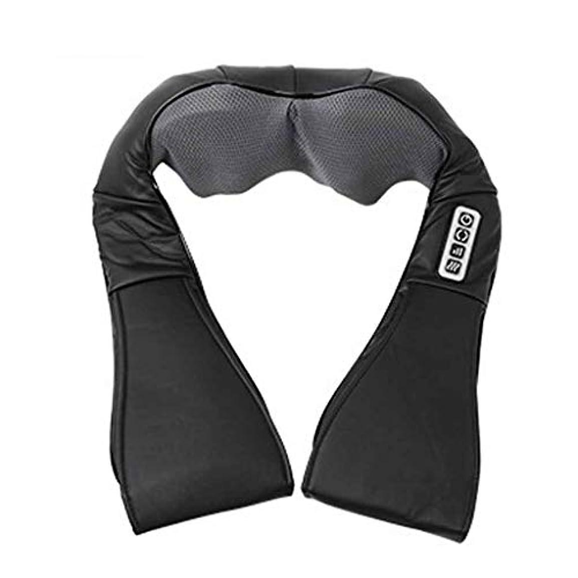 前にテスピアンフリース指圧指圧ネック、肩、背中、脚、および足のマッサージ枕、黒