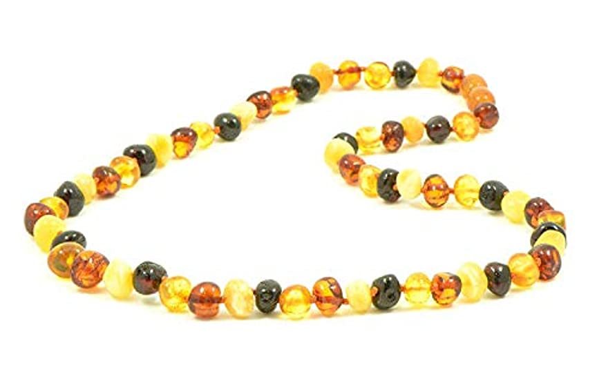 下向き彼は抗生物質(50cm) - AmberJewelry Baltic Amber Necklaces for Adults - 46cm - 50cm Made from Authentic Baltic Amber Beads - Lemon Colour (50cm)