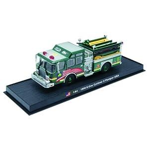 E-OneのCyclone IIパンパー消防車ダイキャスト1/64モデル E-One Cyclone II Pumper Fire Truck Diecast 1:64 Model (Amercom GB-14)