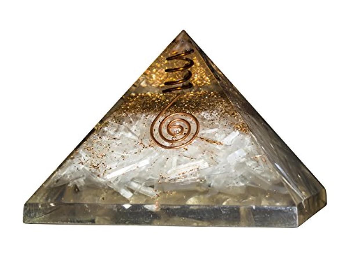 レタスセンチメートル地味な砂漠のOrgoneクリスタルジェムストーンピラミッドエネルギージェネレータのレイキHealingオーラクレンジングチャクラバランシング& EMF保護サイズ: 3 – 3.5 inch