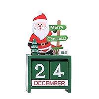 コフンクリスマス木製のカレンダークリスマス装飾装飾品ホームインテリア用品子供用クリスマスサンタクロース