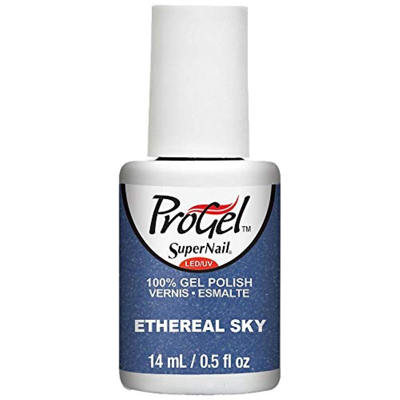 レポートを書くに慣れ万歳SuperNail ProGel Gel Polish - Ethereal Sky - 0.5oz / 14ml