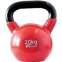 FIELDOOR ケトルベル 4kg / 5kg / 8kg / 10kg / 12kg / 16kg / 20kg / 24kg PVCコーティング 音軽減 キズ防止 体幹トレーニング