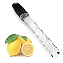 Citrus Lemon Zester - Cheese Grater - Razor-Sharp Stainless Steel Blade with Protective Cover & Blade Cleaner - Dishwasher Safe. Can Grate Nutmeg, Lime, Garlic, Orange & Hard Spices