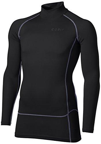 [テスラ] 高機能メッシュ 長袖 ハイネック スポーツシャツ [UVカット・吸汗速乾] コンプレッションウェア メンズ MUT72