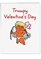 "p4052ジャンボFunnyカード: Not SkinnyまたはFat with Envelope ( Extra Largeバージョン: 8.5 "" X 11 "" ) 1 Jumbo Valentine's Day Card & Envelope (J4052VDG)"