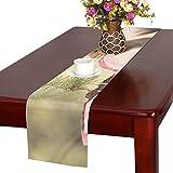GGSXD テーブルランナー 面白い リス クロス 食卓カバー 麻綿製 欧米 おしゃれ 16 Inch X 72 Inch (40cm X 182cm) キッチン ダイニング ホーム デコレーション モダン リビング 洗える