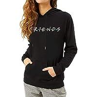 ZSIIBO Women's Friends Graphic Prints Sweatshirt Teens Cute Casual Hoodie Tops