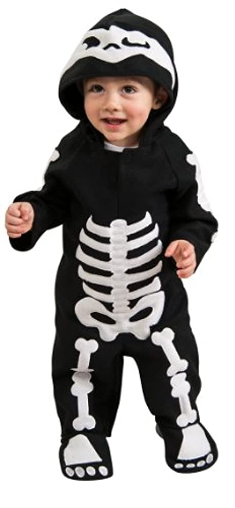 焦がすミシン目上陸Baby Skeleton Infant/Toddler Costume 赤ちゃんスケルトン幼児/幼児コスチューム サイズ:6-12 Months