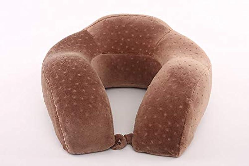 縞模様のエンコミウム全滅させる首枕U字型首枕枕コアオフィス昼寝航空機旅行枕