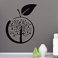 Wxmca 壁デカールビニールデカールステッカーアート壁画キッチンの装飾アップルツリーデザイン30×46センチ