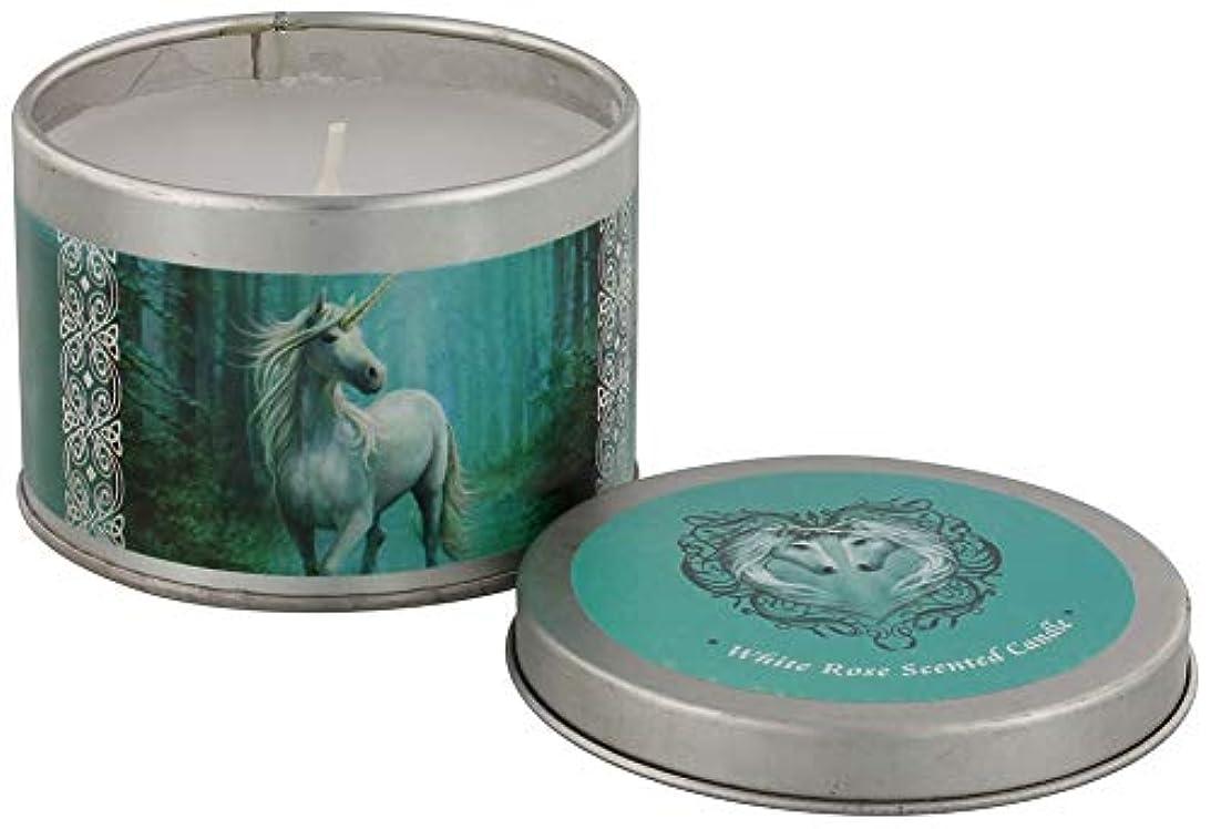 紫のこどもセンタースクリューForest Unicorn Candle By Anne Stokes