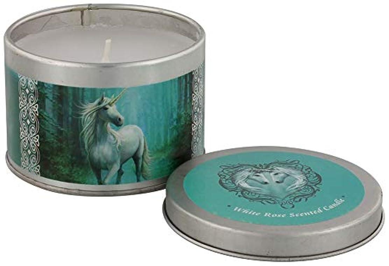 フェザー独占多分Forest Unicorn Candle By Anne Stokes