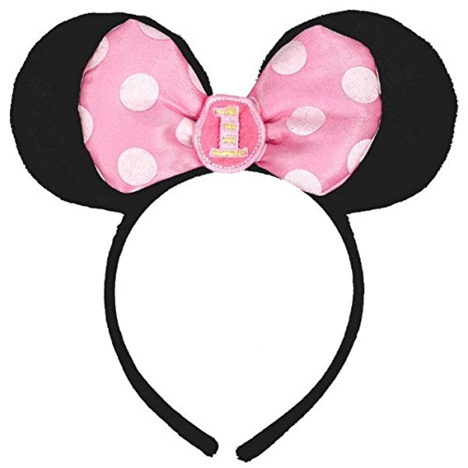 [Amscan]Amscan Minnie Mouse 1st Birthday Headband, Black/Pink AMI 251139 [並行輸入品]