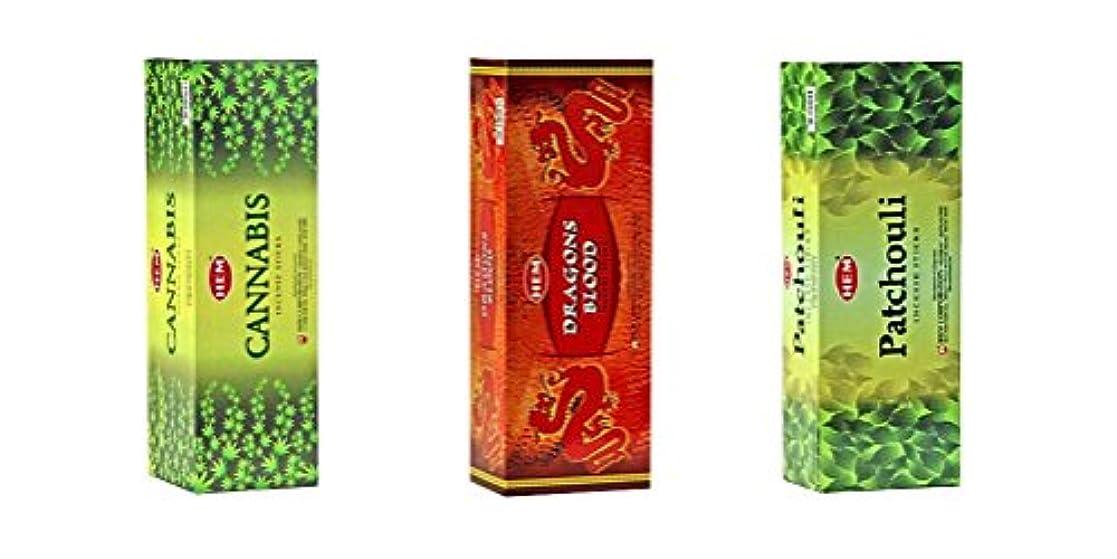 ペネロペ視聴者インタラクションHemお香のボックス3のバンドル120 Sticks (合計360 Sticks ) グリーン