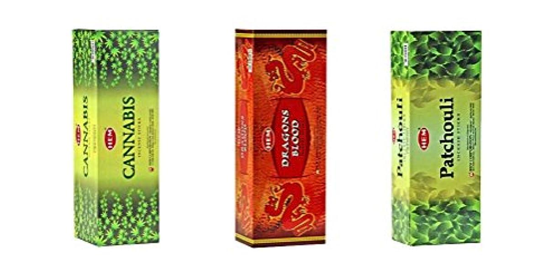 麺払い戻し自治的Hemお香のボックス3のバンドル120 Sticks (合計360 Sticks ) グリーン