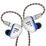 CCA C16 片側バランスドアーマチュア型ドライバー8基 カナル型イヤホン 2pinリケーブル 片側8BAで計16BA 亜鉛合金パネル 高純度銅ケーブル 3.5mmプラグ 高解像力 HIFI 高音質 高遮音性 NICEHCK (マイクなし, 青 C16)