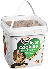 love'em Beef, Mint Quinoa Mini-Cookies Tub 1kg, 1 Piece