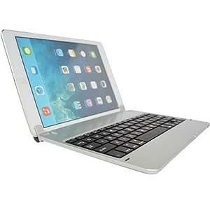 【ECMAX】シルバー iPad air2 キーボード bluetooth接続 ipad air2がノートパソコンに変身! 「日本語取扱説明書つき」ECMAX正規代理品