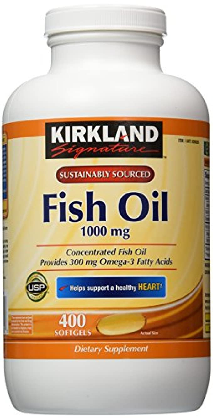 ホイスト代数的なだめるKirkland Signature Omega-3 Fish Oil Concentrate, 800 Softgels, 1000 mg Fish Oil with 30% Omega-3s (300 mg) by...
