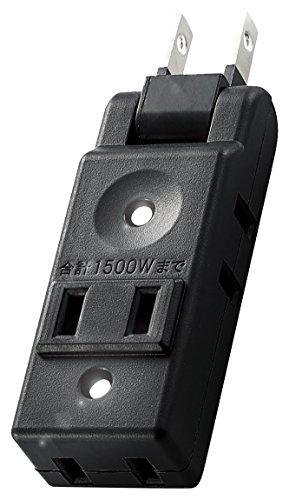 エレコム 小型タップ/コンパクト/4個口/ブラック AVT-M01-24BK 1個
